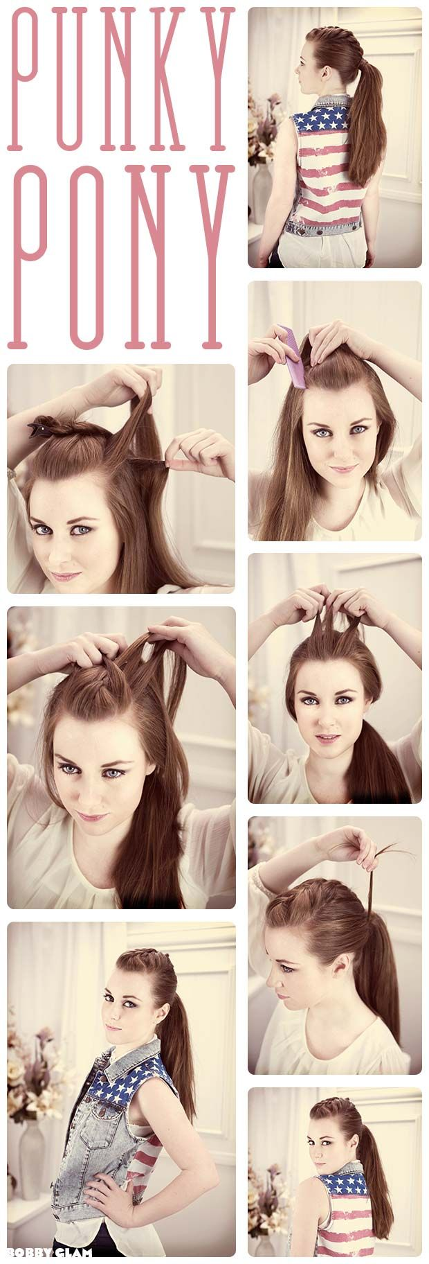 French Braid Ponytail TUTORIAL @Lindsay Dillon Dillon Dillon tidei i wonder how this would look.