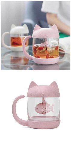 Tea cat and fish