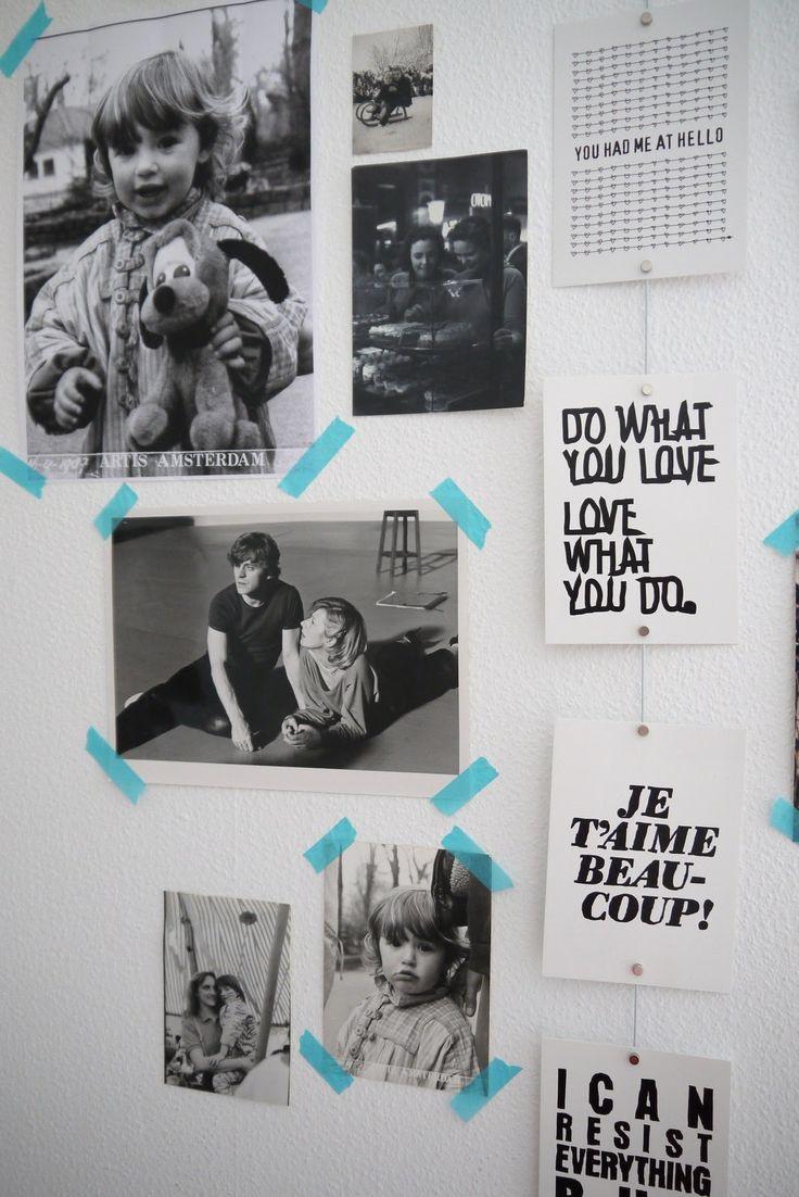 Des collages sur les murs de mon bureau http://faisbellelacasa.wordpress.com/2012/12/17/des-collages-sur-les-murs-de-mon-bureau/