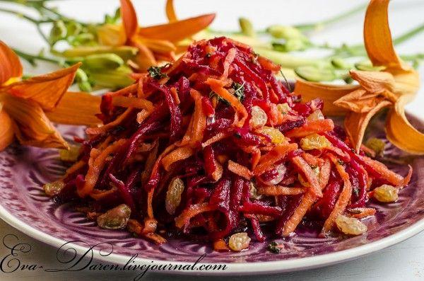 Марокканский салат со свеклой и морковью