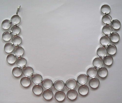 Kaija Aarikka for Aarikka, vintage silver necklace, 1966. #Finland #Aarikka