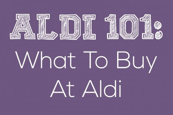 Shopping tips for Aldi-- kind of excited about Rome getting this store!!!