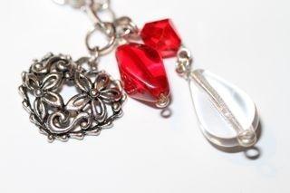 Halssmykke Rød glede