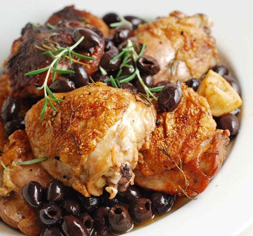 Olives, Chicken thighs and Chicken on Pinterest