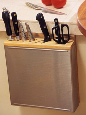 spacesavvy ways to store cooking equipment knife - Knife Storage