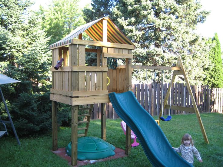 ideas for swing set and fort - Google Search