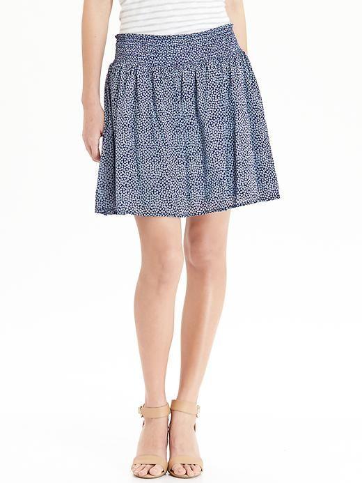 Women's Patterned Smocked-Waist Skirts Product Image