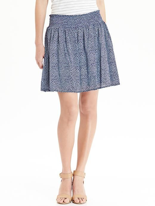 Women's Patterned Smocked-Waist Skirts Product Image