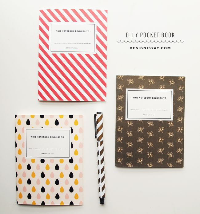 D.I.Y Pocket Book with Printable Covers | DESIGN IS YAY!