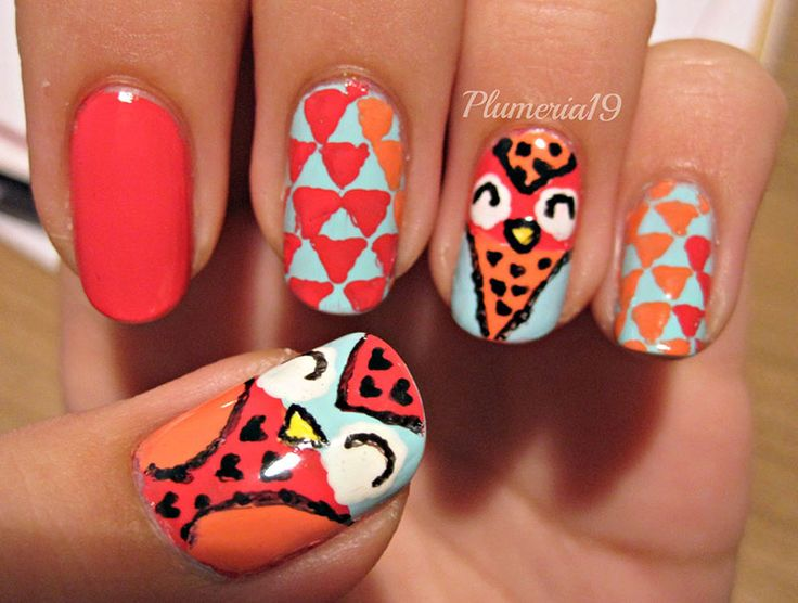 42 best owl nails u as decoradas con b hos images on - Decoracion con buhos ...