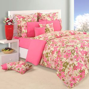 Bedsheet or double bed comforter with a dreamy floral print. Rs 2218/-