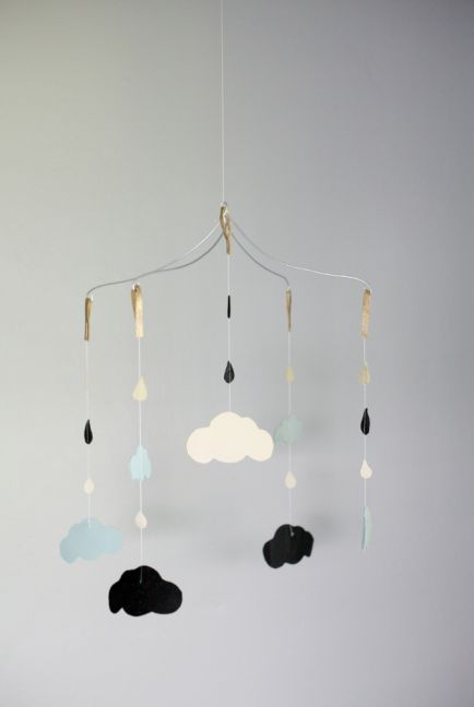 DIY cloud baby mobile!