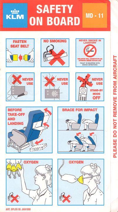 klm safety card