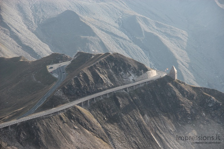 Breath taking view from Edelweisspitze, which is the highest point of Gross Glockner road, Austrian Alps.