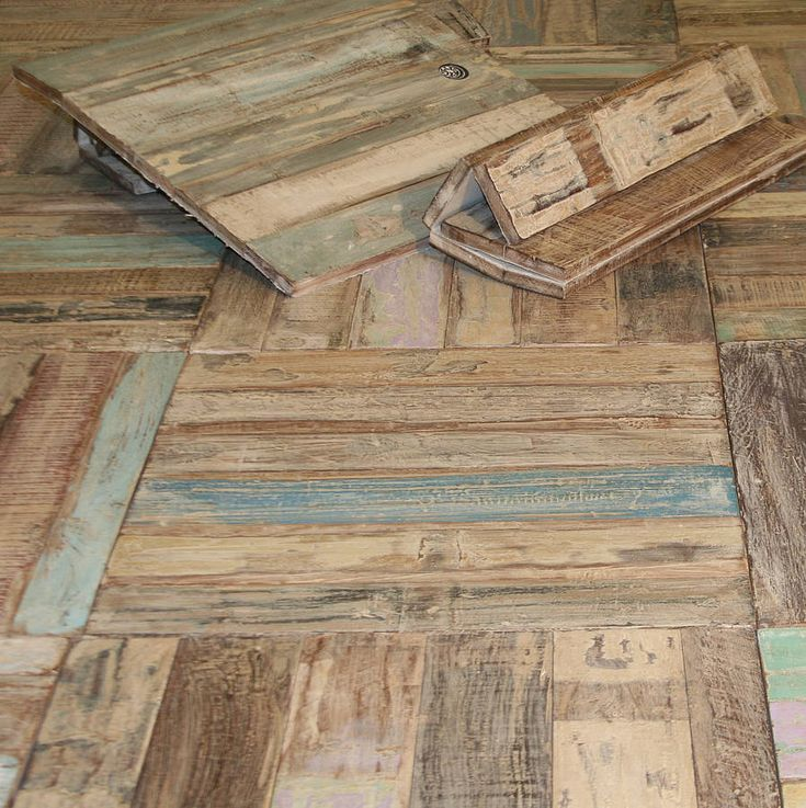 reclaimed teak floor tiles.  Oh my heavens, glad I didn't know about these during the renovation!