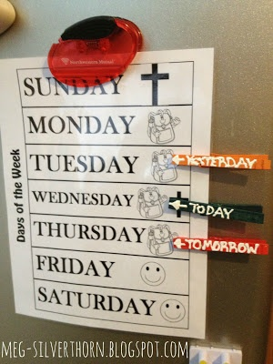 Teaching The Days Of The Week At Home Kids Learning Activities Homeschool Preschool Kids Learning