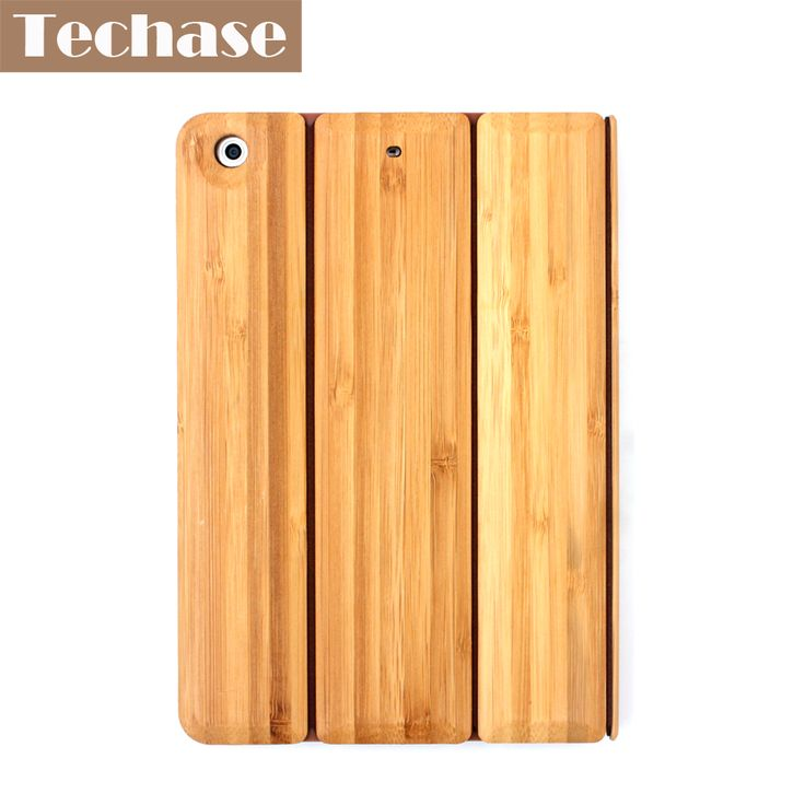 Techase Tablet Cover For iPad 2 3 4 Case Bamboo Protective Back Cover For iPad Mini 1 2 3 Foldable Tablet Stand For iPad Air #Affiliate