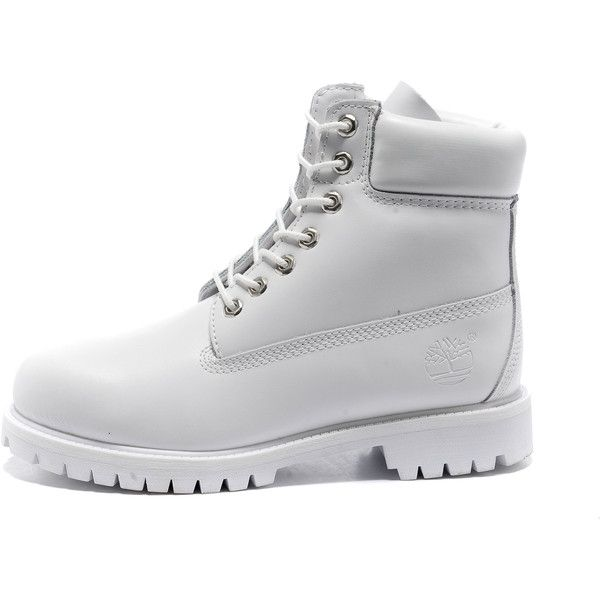 Images For > All White Timberlands Tumblr ($110) ❤ liked on Polyvore featuring shoes, boots, ankle booties, timberland, sneakers, timbs, timberland boots, white booties, white boots and white ankle booties