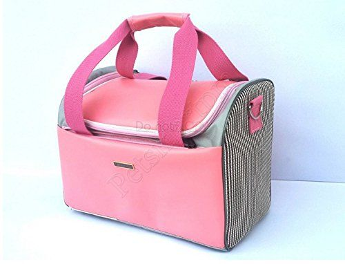 Pink Leather Anti Squash Dog Carriers Purse Pet Totes Bag Puppy Carriers Bag Cat Handbag Doggy Cage -- Want additional info? Click on the image.
