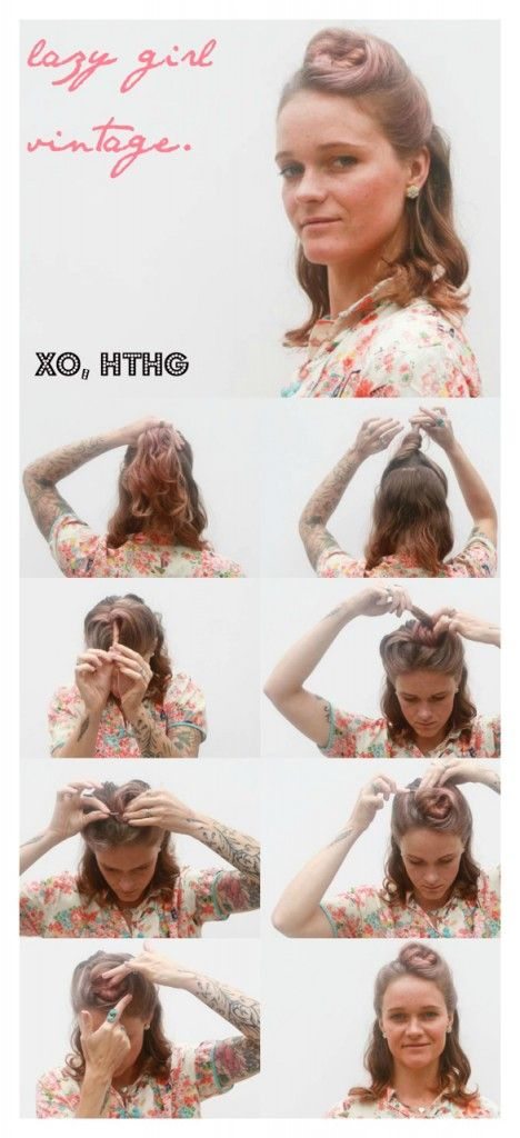 Lazy Girl Vintage hair: Roll a fat one today