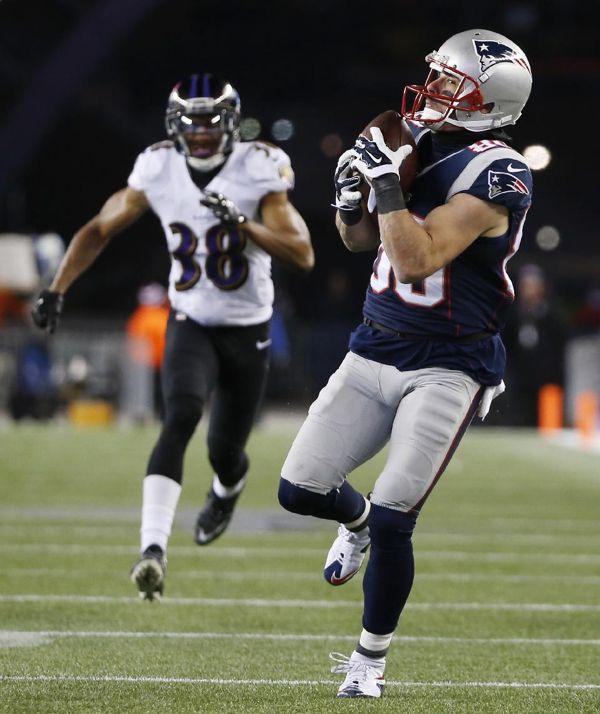 Patriots wide receiver Julian Edelman was a college quarterback at Kent State. But the Baltimore Ravens apparently forgot.