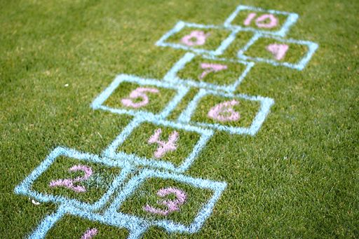 lawn hopscotch                                                                                                                                                     More