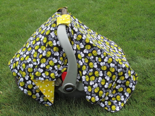 Infant carseat cover,bumble bees