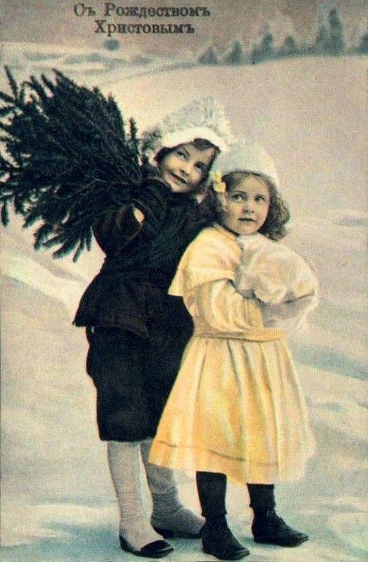 Дореволюционные новогодние открытки фото