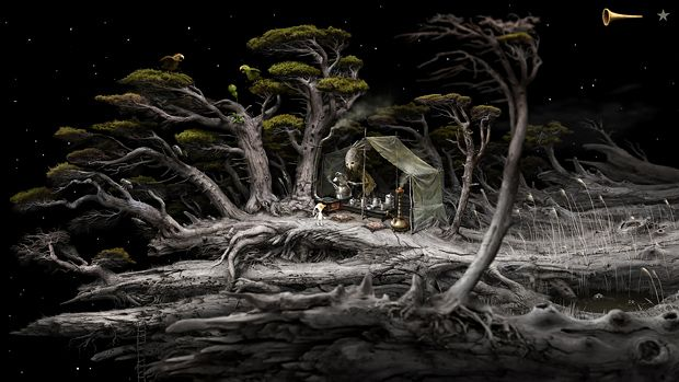 Samorost game by Amanita Design. This game is a work of art!