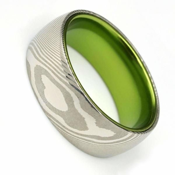 The Syndicate Mens Wedding Bands Unique Damascus Steel Wedding Band Mens Wedding Rings Unique