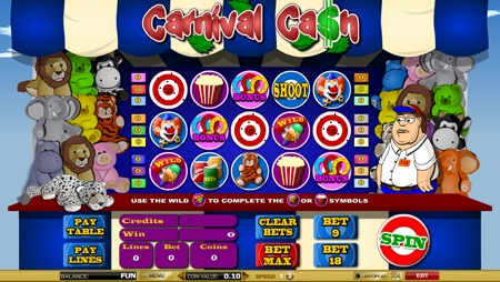 All the fun of the fair comes to Castle Casino slots with the exciting Carnival Cash. Packed full of iconic symbols, bonuses and wild cards; this game is fast and furious, you can almost smell the hot dogs! Three exclusive bonus games – Duck Hunter, Cash Track and Balloon Pop, based on the popular computer game, take you on to even bigger jackpots and you'll keep coming back with such variation in game play.