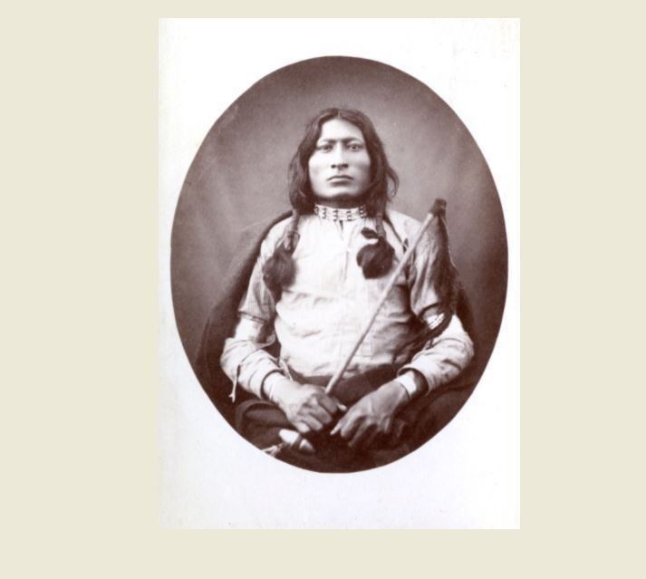 1882 One Bull PHOTO Battle of Little Bighorn Indian,Sitting Bull Nephew Lakota