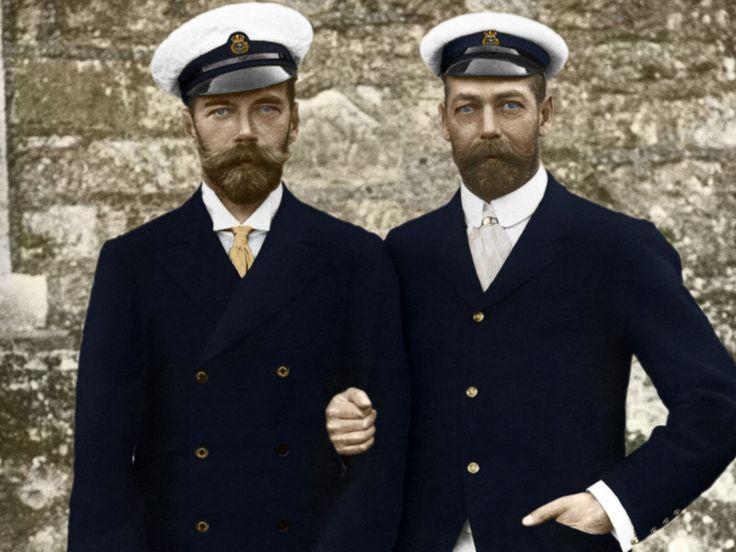 Двоюродные братья и правящие особы двух государств: Николай II и Георг V. Cousin and two of the ruling person: Nicholas II and George V.
