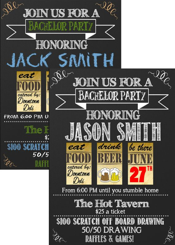 Best 25 Bachelor party invitations ideas – Stag Party Invitation