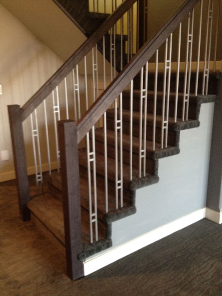 Pin By Winder Woodworks Inc On Stairs With Metal Spindles