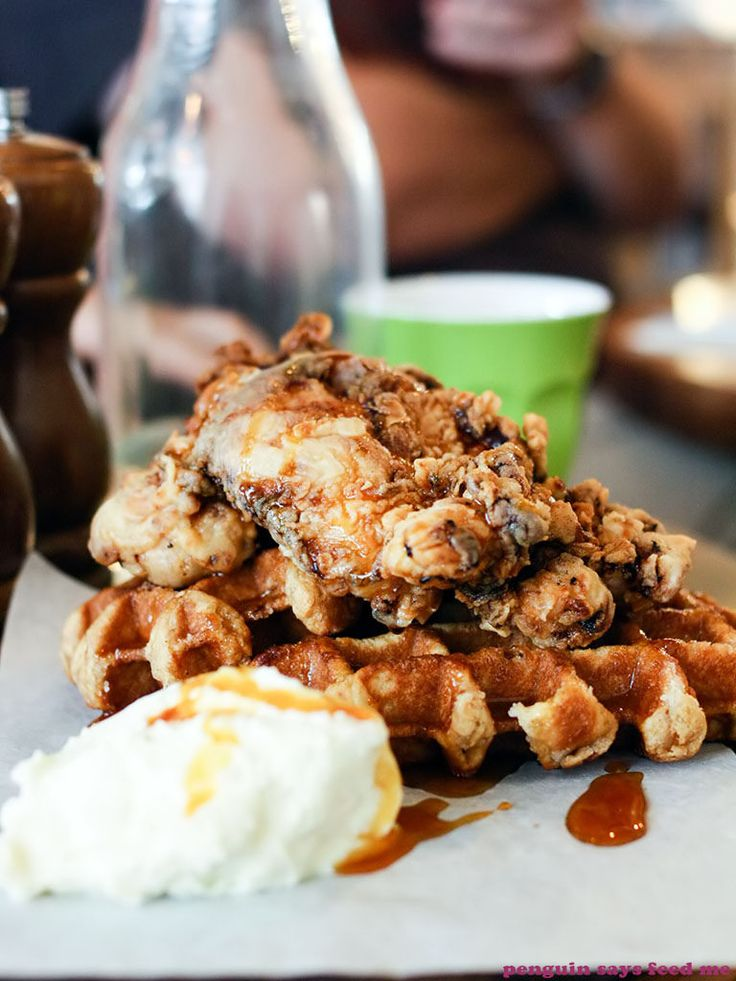 Butcher's fried chicken and waffles from The Butcher's Block