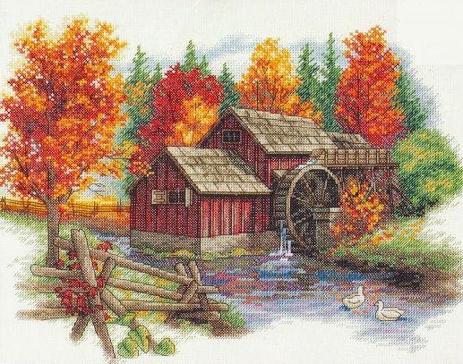 Glory of Autumn (Cross Stitch Kit > vodenica)