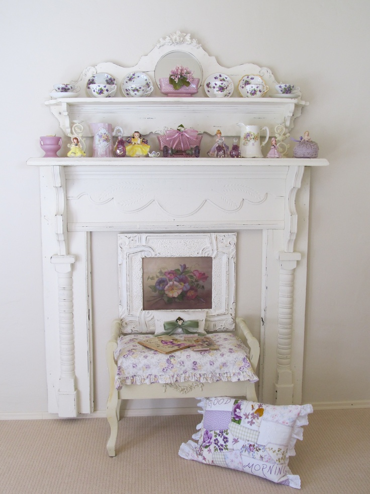 62 best shabby chic fireplaces images on pinterest - Manteles shabby chic ...