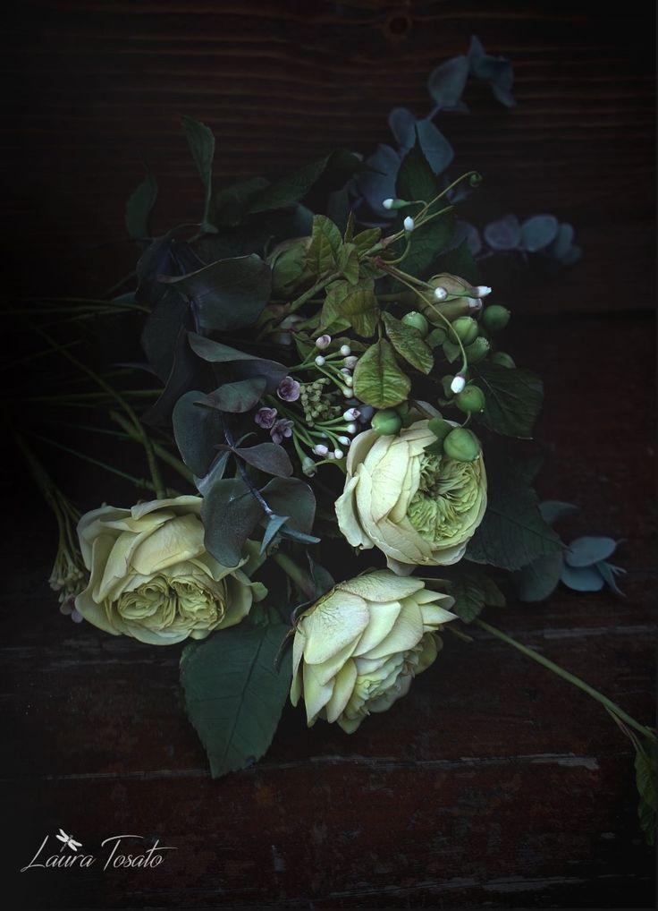 #davidaustinrose #coldporcelain #clayflowers #stillife