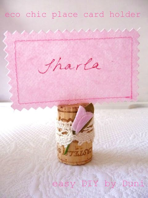 #DIY place card holders made with wine corks. Would they have enough weight to say upright?