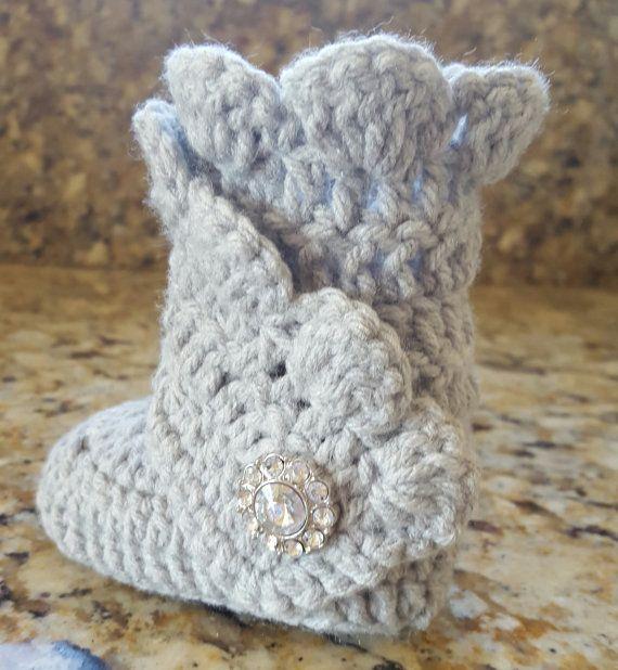 Baby baby wrap stivali uncinetto scarpette per di DolceStitches