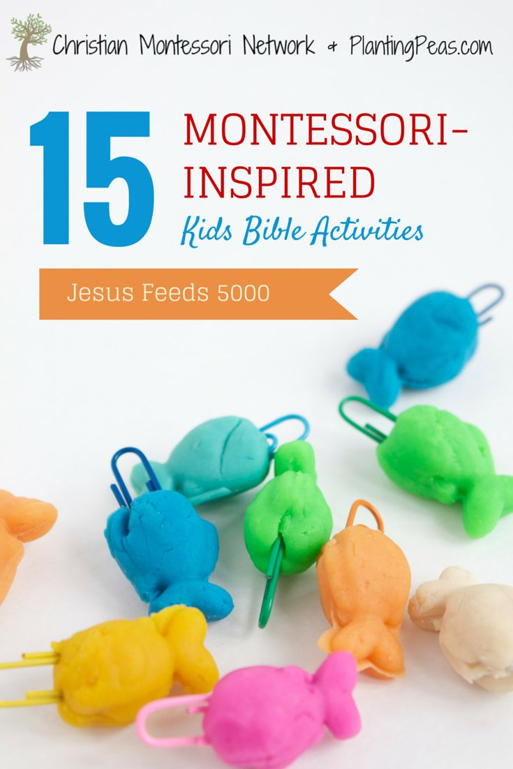 Montessori Kids Bible Activities - Jesus Feeds 5000 Pinterest Photo