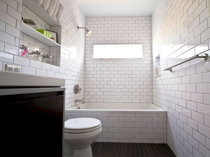 30+ Stunning White Subway Tile Bathroom Design / FresHOUZ.com