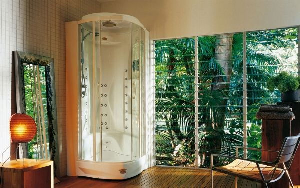 Più che cabine doccia. veri e propri luoghi del relax!Parliamo di quelle che hanno l'idromassaggio! http://www.arredamento.it/cabine-doccia-idromassaggio.asp #cabinedoccia #bagno #doccia #idromassaggio Synthesis Design-Wedi- Hafro -