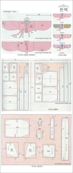 modern hanbok pattern - Google Search