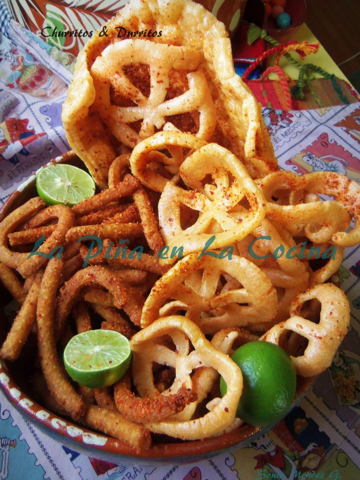 Churritos and Durritos. Two popular Mexican snacks and antojitos. [ MexicanConnexionForTile.com ] #food #Talavera #handmade
