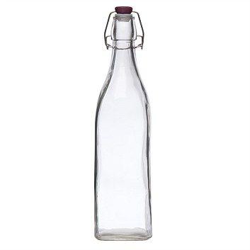 Food Storage Containers - Briscoes - Tablefair Glass Clip Top Bottle 1L