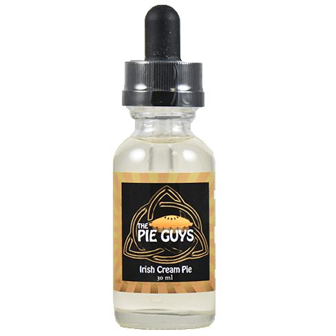 The Pie Guys E-Juice Irish Cream Pie - A wonderful mix of Bailey's and Cream Cheese make up the body of this amazing pie. Paired nicely with a crust of mashed Graham Cracker. From the very first vape waves and waves of delicious cream and Bailey's tumbling over your taste buds to get the job done.70% VG