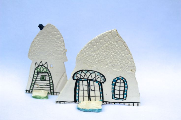 Ceramic - small houses. TheClayPlay by Annemette Klit . 2014