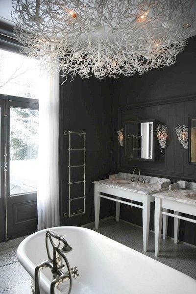 Light fixture and gray walls